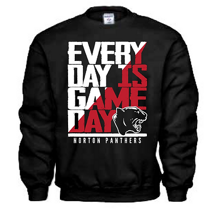Everyday is Gameday Norton Panthers Crew Neck Sweatshirt