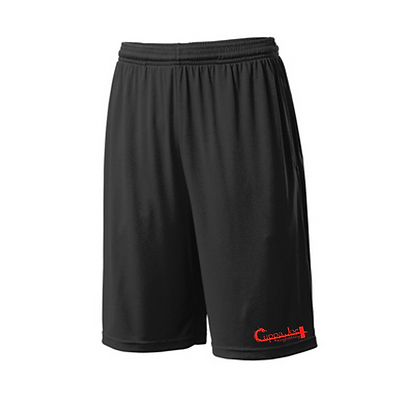 Cuppa Joe Men's Competitor Shorts (Red Logo)