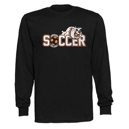 Green Bulldogs Soccer Logo #46 Unisex Long Sleeve T-Shirt