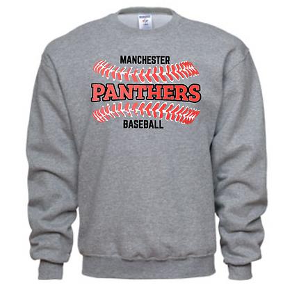 Manchester Panthers Baseball Logo #32 Unisex Crew Neck Sweatshirt