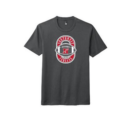 Northwest Indians Football Logo Triblend T-Shirt