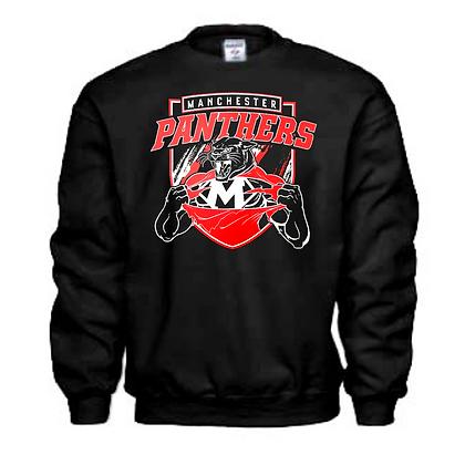 Manchester Panthers General Logo #8 Unisex Crew Neck Sweatshirt