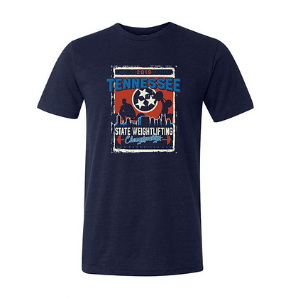 2019 Tennessee State Weightlifting Championships Unisex Triblend T-shirt