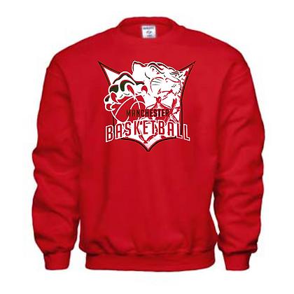 Manchester Panthers Basketball Logo #41 Unisex Crew Neck Sweatshirt