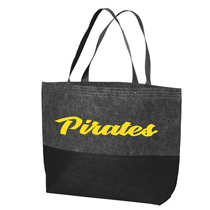 Black River Wrestling Felt Tote Bag with Glitter Logo
