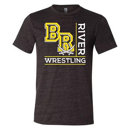 Black River Wrestling Design 1 Triblend T-shirt