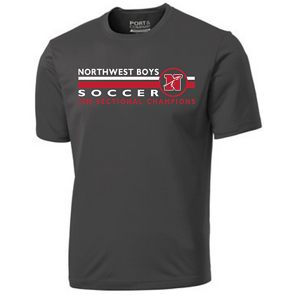 Northwest Boys Soccer 2018 Sectional Champions Moisture Wicking Performance T