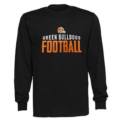Green Bulldogs Football Logo #42 Unisex Long Sleeve T-Shirt