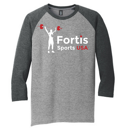 Fortis Sports USA (White & Red) Unisex3/4 Sleeve T-Shirt