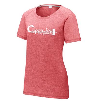 Cuppa Joe Ladies Triblend T-Shirt (White Logo)