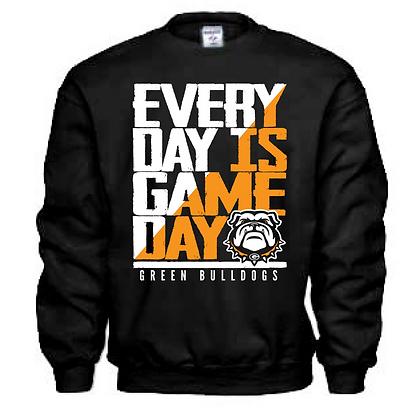 Everyday is Gameday Green Bulldogs Crew Neck Sweashirt
