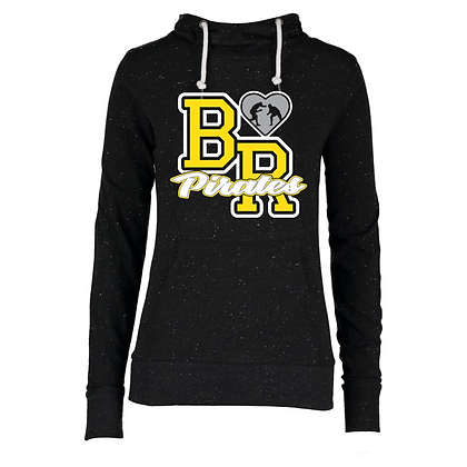 Black River Wrestling Glitter Design Ladies Funnel Hoodie