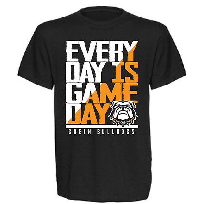 Everyday is Gameday Green Bulldogs Unisex T-Shirt