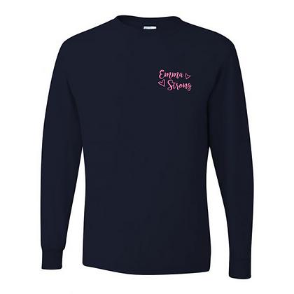 Navy Emma Strong Long Sleeve T-Shirt
