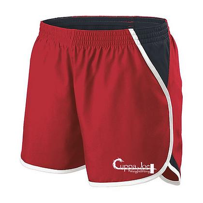 Cuppa Joe Ladies Energize Shorts (White Logo)