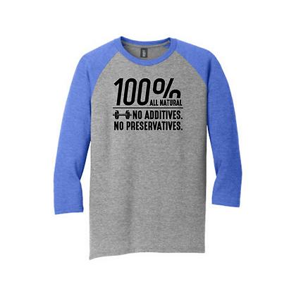 100% All Natural Unisex Baseball Shirt