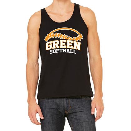 Green Softball Men's Tank Top
