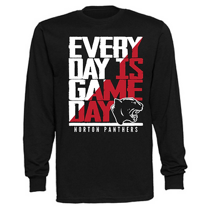 Everyday is Gameday Norton Panthers Unisex Long Sleeve T-Shirt