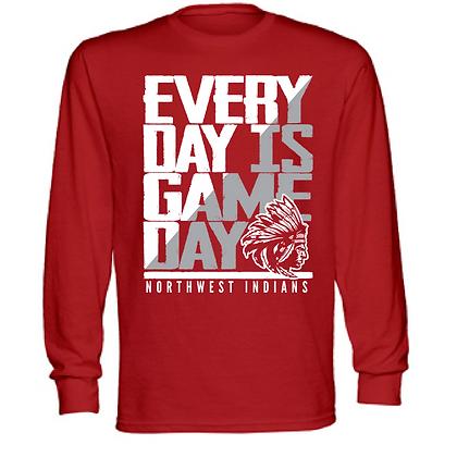 Everyday is Gameday Northwest Indians General Logo #11Unisex Long Sleeve T-Shirt
