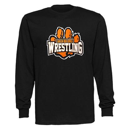 Green Bulldogs Wrestling Logo #59 Unisex Long Sleeve T-Shirt