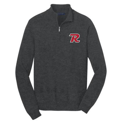 Revere Minutemen Embroidered 1/4 Zip Sweater