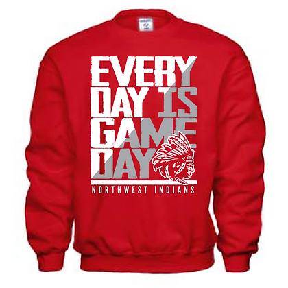 Everyday is Gameday Northwest Indians General Logo #11 Crew Neck Sweatshirt