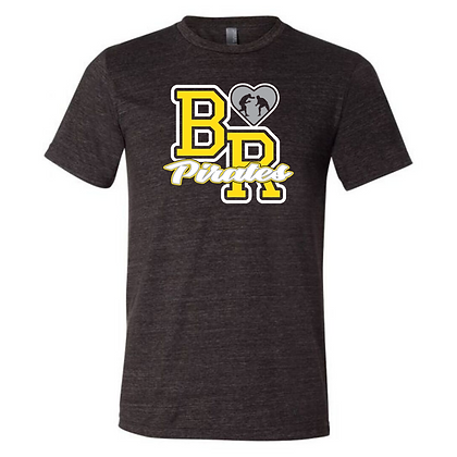 Black River Wrestling Glitter Design Triblend T-shirt