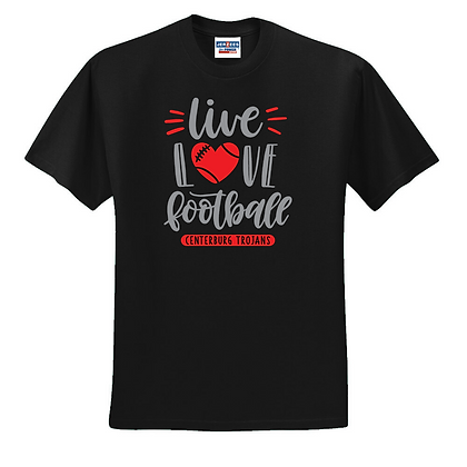 Centerburg Football Glitter Design T-Shirt