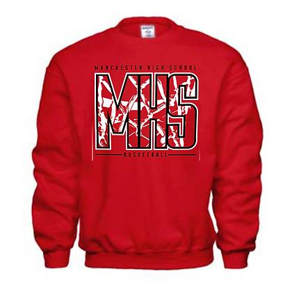 Manchester Panthers Basketball Logo #40 Unisex Crew Neck Sweatshirt