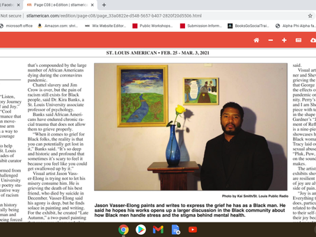 """Featured in The St. Louis American """"Black St. Louis artists explore generations of racial trauma..."""
