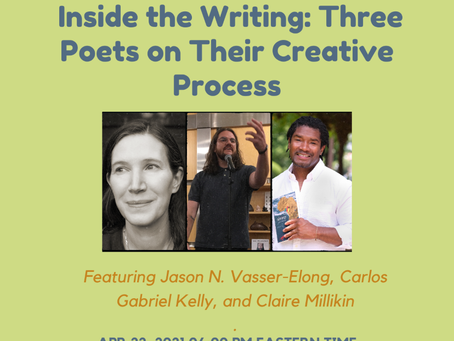 Join me for a very special poetry reading on April 22nd.