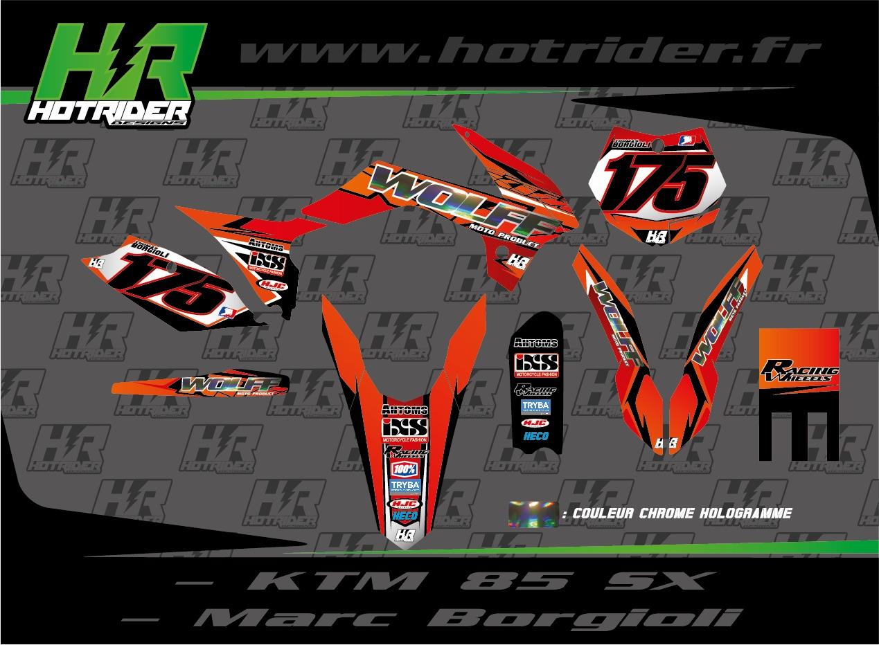 Kit déco perso moto KTM SX