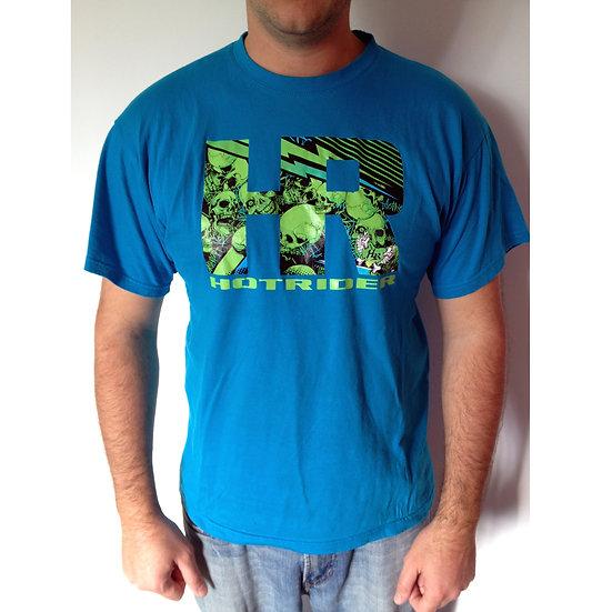 Tee-shirt bleu HR Skulls HotRider Designs