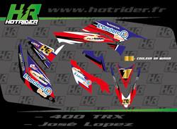 Kit déco perso quad Honda 400 TRX