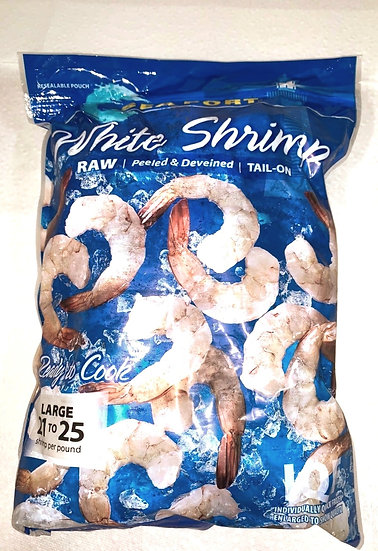 Large Raw White Shrimp Tail-On