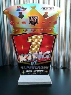 Trophée personnalisé supercross