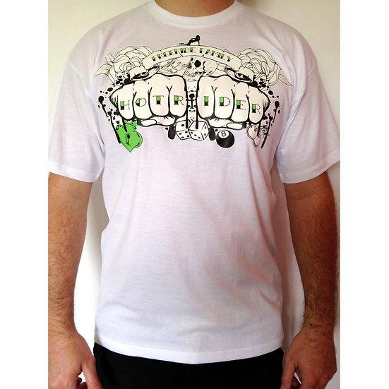 Tee-shirt blanc Handsink HotRider Designs