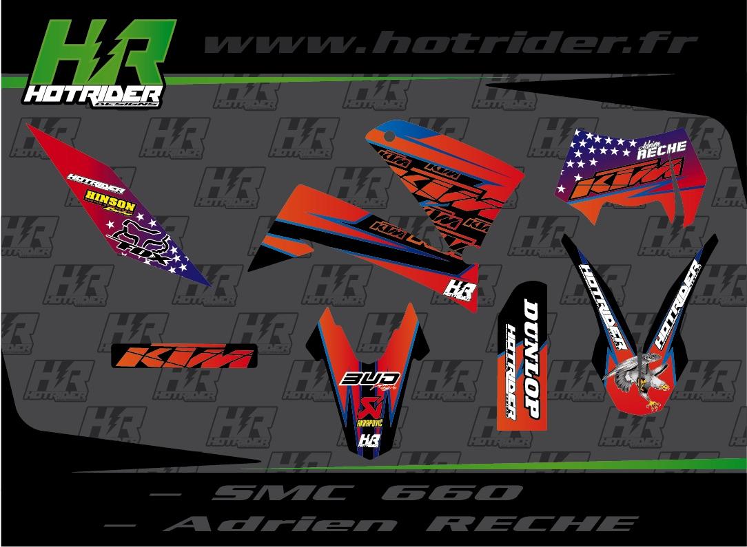 Kit déco perso moto KTM SMC