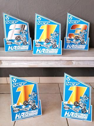 Plaques trophées personnalisées pit bike