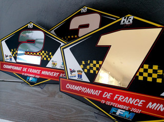 Plaques trophées Championnat de France Minivert