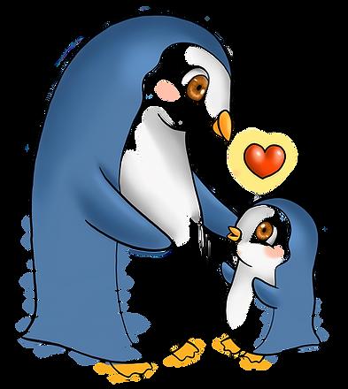 Colored penguin cartoon