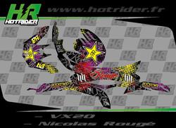 Kit déco perso casque Scorpion VX20