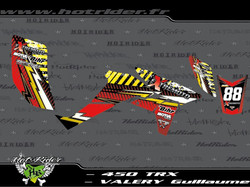 Kit déco perso quad 450 TRX
