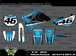 Kit déco perso motocross 85 YZ