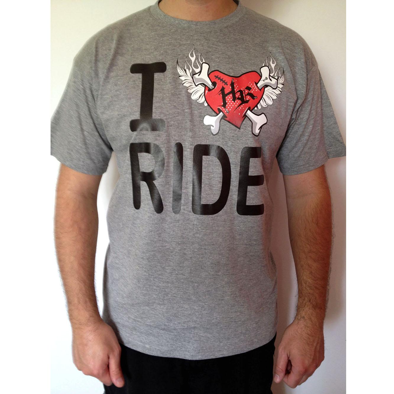 Tee-shirt gris ILoveRIDE