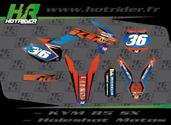Kit déco perso moto 85 KTM