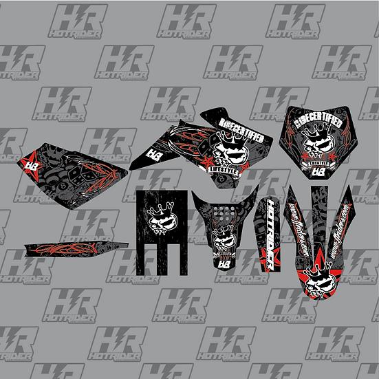 Kit déco moto FFR vintage rouge