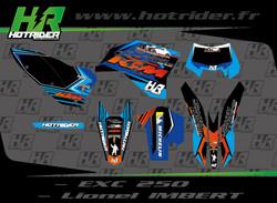 Kit déco perso moto 250 KTM