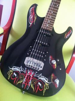 Déco guitare personnalisée