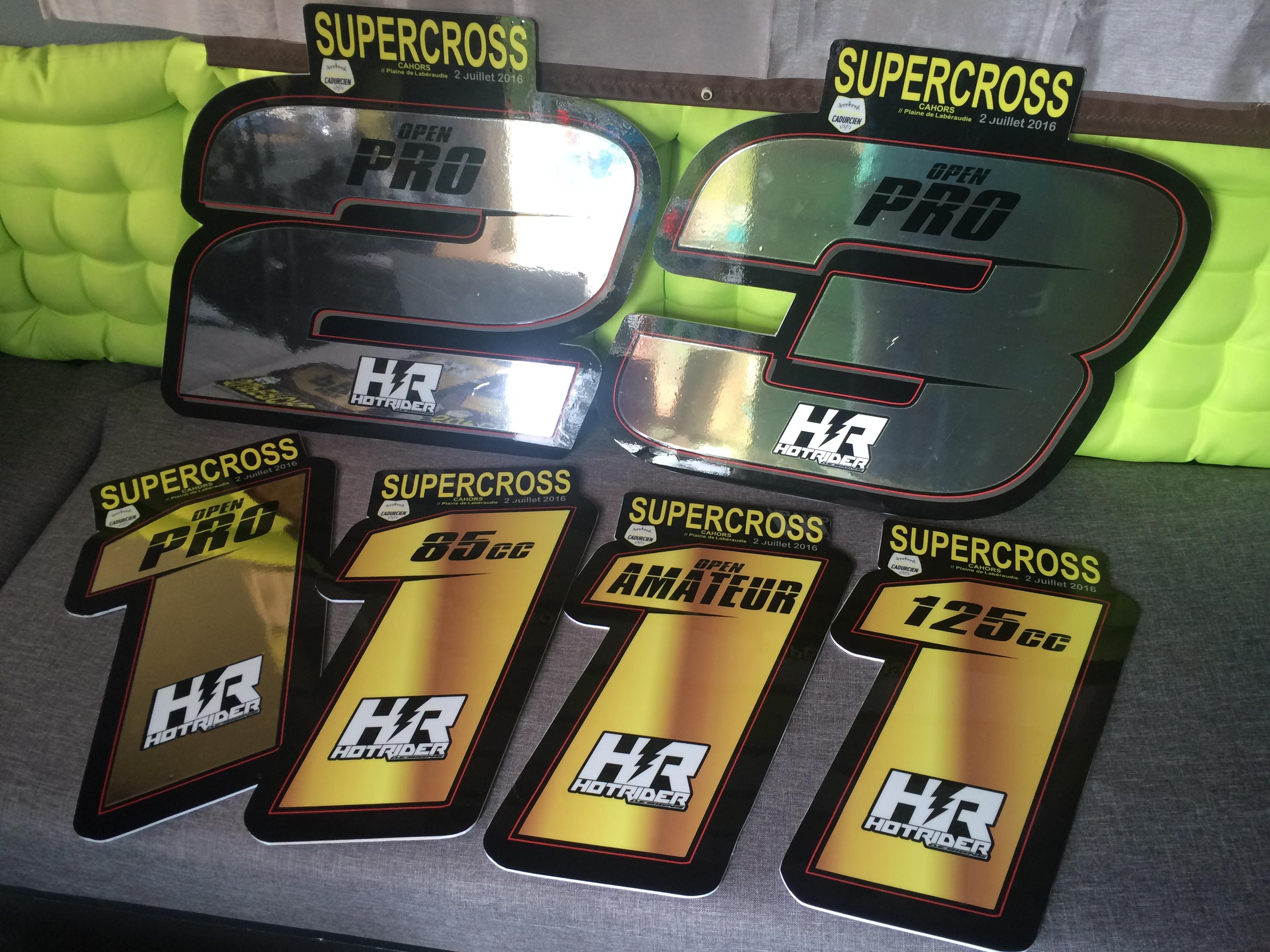 Plaques trophées SX Cahors